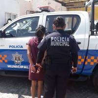 Otra Señorita detenida en el Pedregoso San Juan del Río con varios envoltorios con Marihuana