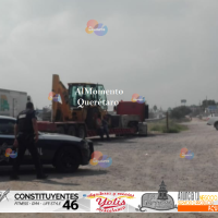 Robo de tráiler y secuestro de conductor provoca movilización de Policía de San Juan del Río y Estatales.