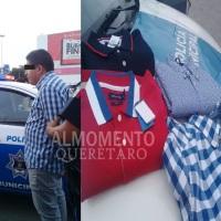 Detenido por robo de mercancía en Liverpool San Juan del Río.