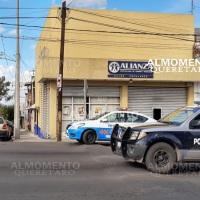 Asalto a Caja Alianza en San Juan del Río; a mano armada.
